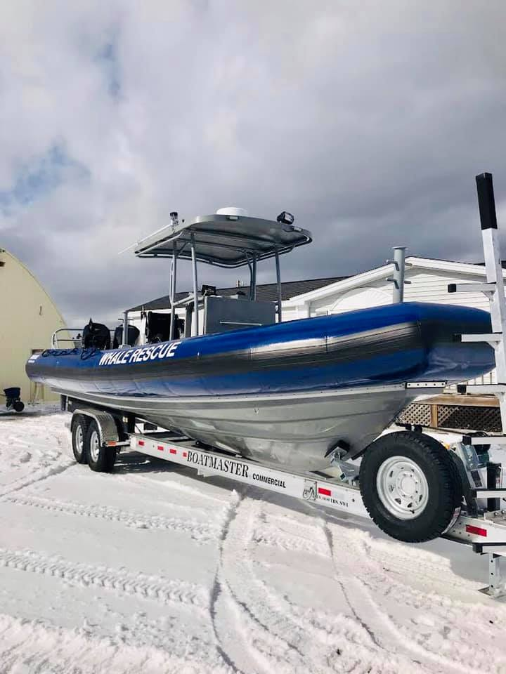 the new boat that the campobello whale rescue team has received